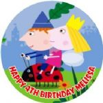 Personalised Edible Ben & Holly Cake Topper